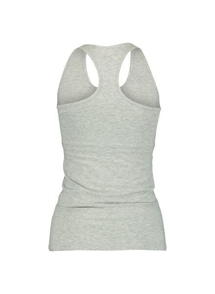dameshemd met bh - racerback grijsmelange grijsmelange - 1000013982 - HEMA