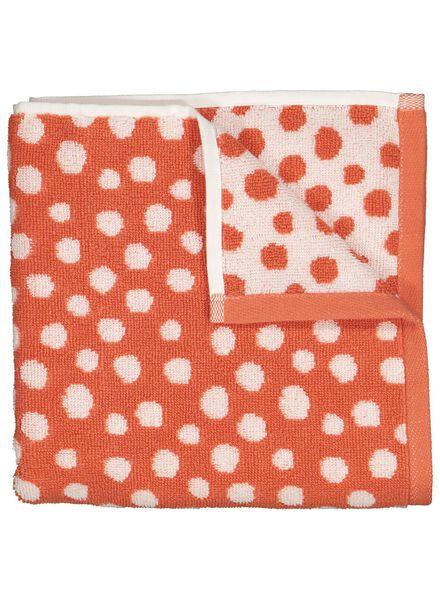 handdoek - 50 x 100 cm - zware kwaliteit - koraal gestipt - 5230008 - HEMA