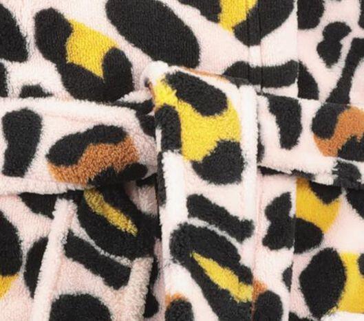 kinderbadjas luipaard roze roze - 1000020711 - HEMA