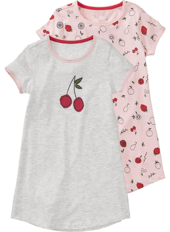HEMA 2-pak Kindernachthemd Lichtroze (lichtroze)