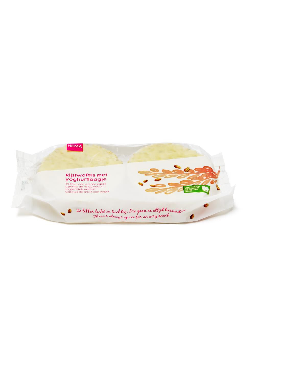 HEMA Rijstwafels Witte Chocolade - Yoghurt 2x3 Stuks