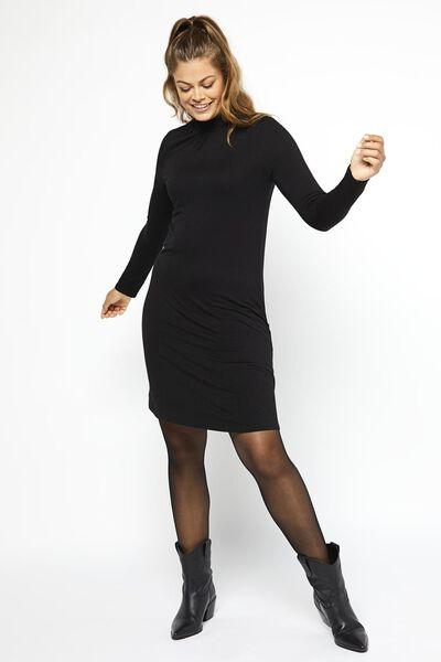 damesjurk zwart zwart - 1000021329 - HEMA
