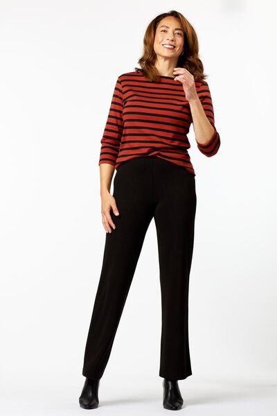 dames t-shirt boothals strepen donkerblauw donkerblauw - 1000024878 - HEMA