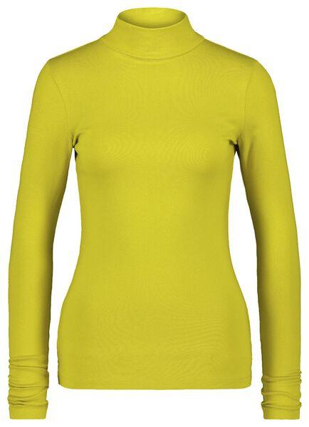 dames t-shirt col lime - 1000021664 - HEMA
