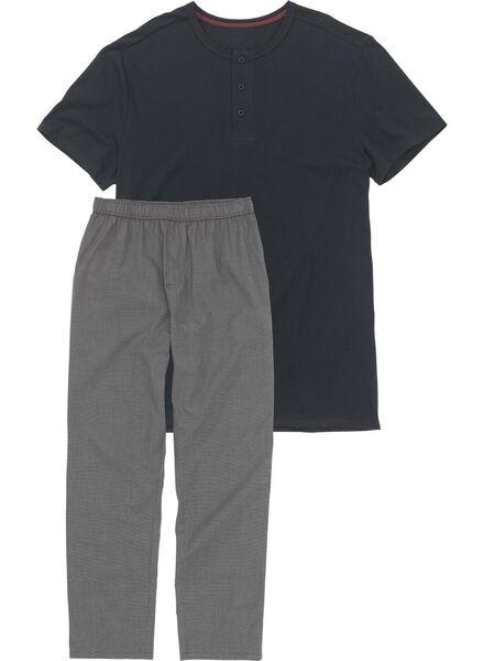 herenpyjama donkerblauw donkerblauw - 1000008710 - HEMA