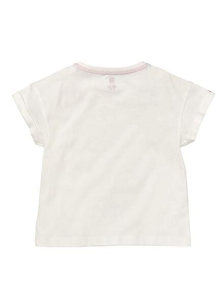 kinder t-shirt gebroken wit 122/128 - 30814449 - HEMA