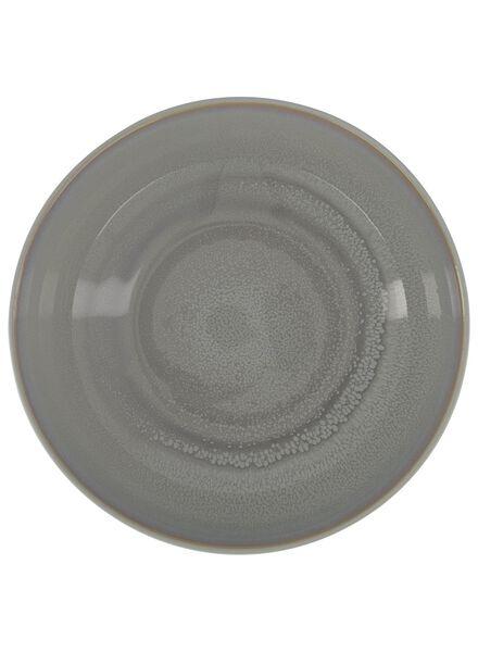 saladeschaal - 24 cm - Helsinki - reactief glazuur - lichtgrijs - 9602020 - HEMA