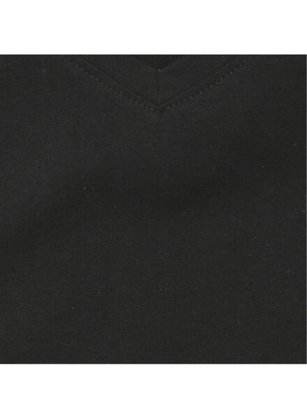 2-pak heren t-shirts V-hals zwart zwart - 1000009972 - HEMA