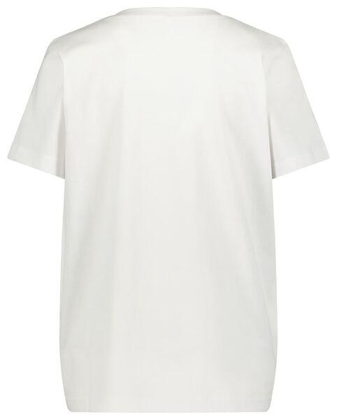 dames t-shirt wit S - 36304786 - HEMA