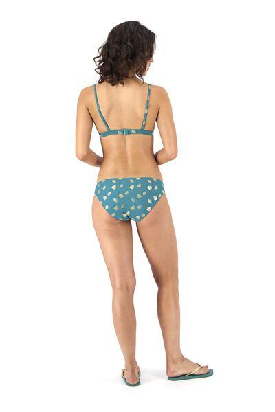 dames padded triangle bikinitop donkergroen donkergroen - 1000017953 - HEMA