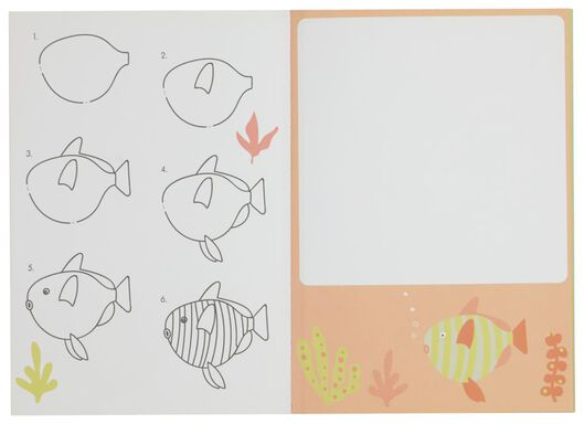 kleurboek - ik leer tekenen - 15910091 - HEMA