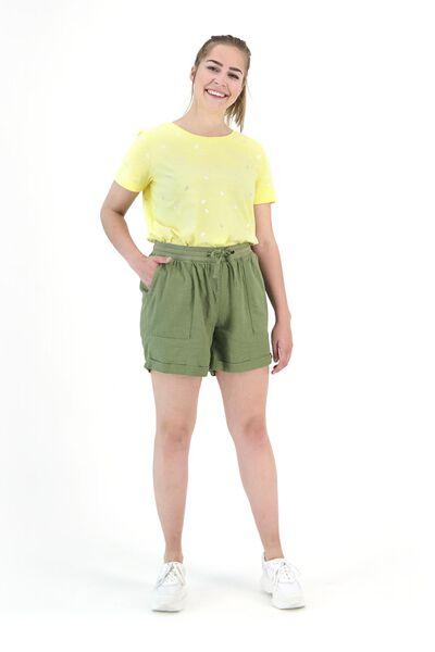 dames t-shirt lichtgeel lichtgeel - 1000019873 - HEMA