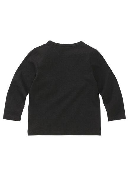 baby t-shirt bamboe zwart zwart - 1000011965 - HEMA