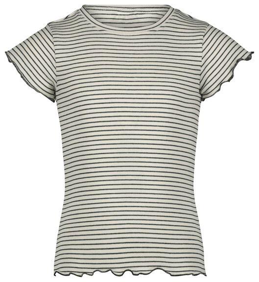 kinder t-shirt rib gebroken wit 122/128 - 30830779 - HEMA
