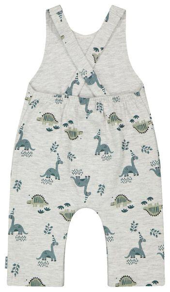 newborn jumpsuit organic katoen stretch grijsmelange grijsmelange - 1000023565 - HEMA