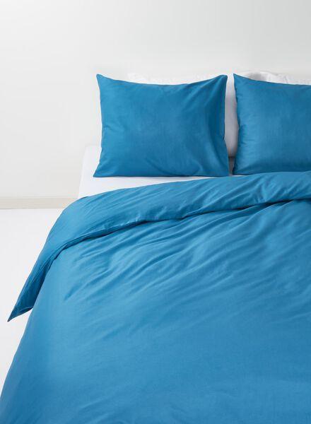 dekbedovertrek - zacht katoen - 240 x 220 cm - blauw - 5700138 - HEMA