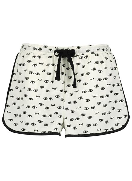 dames pyjamashort katoen zwart/wit zwart/wit - 1000014167 - HEMA