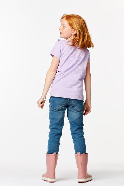 kinder t-shirt ruffle lila 122/128 - 30803542 - HEMA