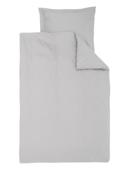 dekbedovertrek - hotel katoen percal - 140 x 200 cm - lichtgrijs - 5720122 - HEMA