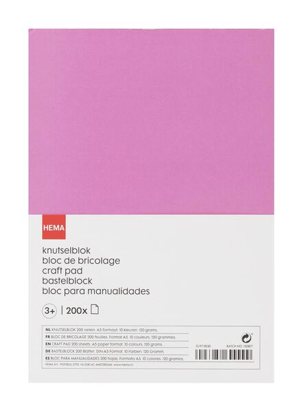 knutselblok A5 - 15970030 - HEMA