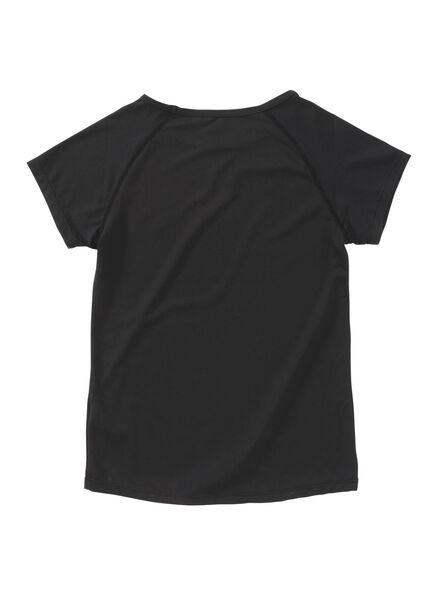 kinder sport t-shirt zwart zwart - 1000008404 - HEMA