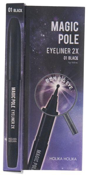 magic pole eyeliner 2x 01 black Holika Holika - 17620015 - HEMA
