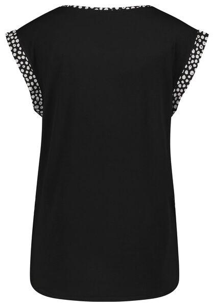 dames top recycled stippen zwart/wit zwart/wit - 1000024073 - HEMA