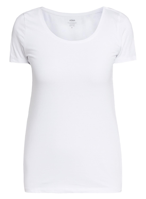 HEMA Dames T-shirt Wit (wit)