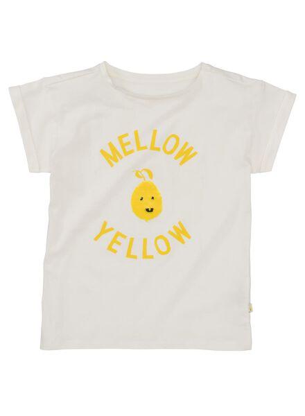 kinder t-shirt gebroken wit gebroken wit - 1000013034 - HEMA
