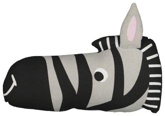 gevuld kussen - 45 x 10 x 25 - zebra - katoen - 13220030 - HEMA