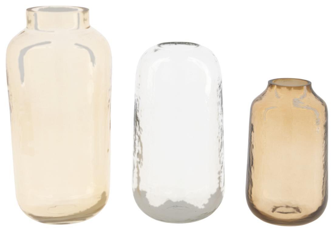 HEMA Vazen - Gerecycled Glas - Terra - 3 Stuks (terra)
