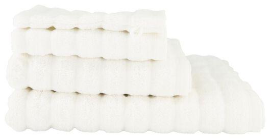 handdoeken - hotel extra zwaar - structuur wit wit - 1000022110 - HEMA