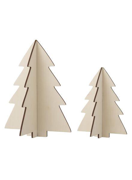 2-pak houten kerstbomen - 25103028 - HEMA
