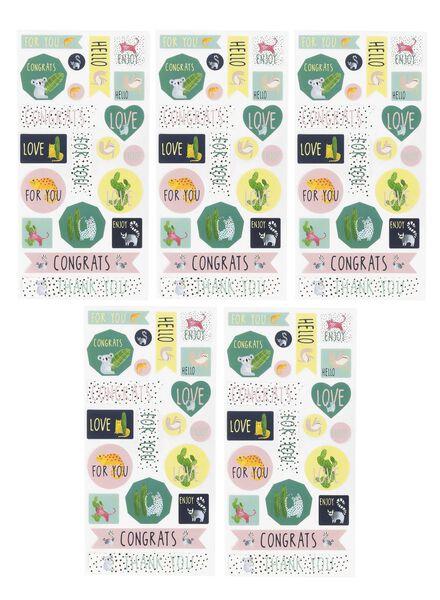 stickers 5 stuks - 8 x 15,5 cm - 14700201 - HEMA