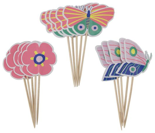 cocktailprikkers 10cm vlinder - 15 stuks - 14200408 - HEMA