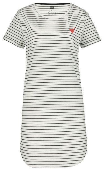 damesnachthemd zwart/wit zwart/wit - 1000020066 - HEMA
