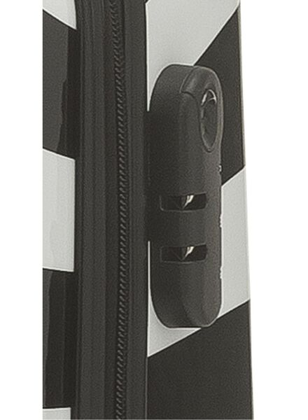 koffer - 55 x 35 x 22 - zwart wit streep - 18600416 - HEMA