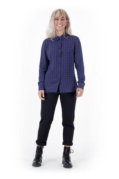 damesblouse donkerblauw donkerblauw - 1000020922 - HEMA