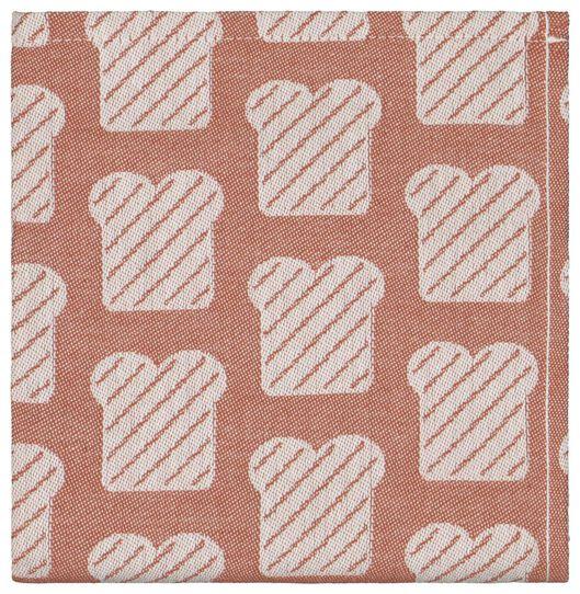 keukendoek 65x65 katoen - bruin/wit brood - 5410092 - HEMA