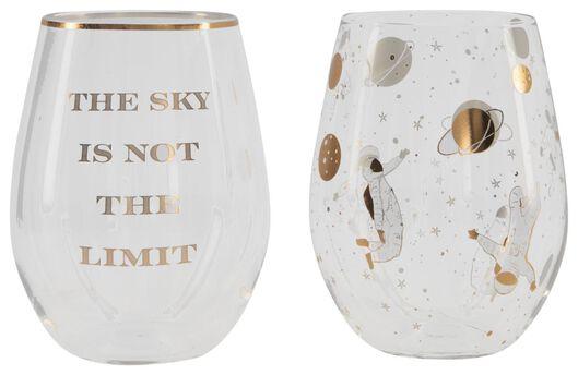 glazen set astronomisch - 2 stuks