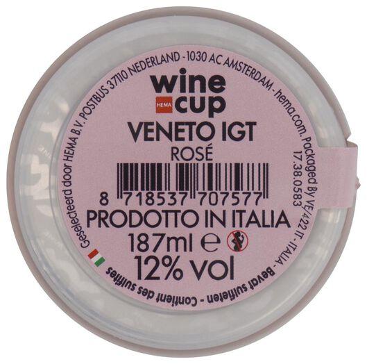 wine in cup rosé 187ml - 17380583 - HEMA