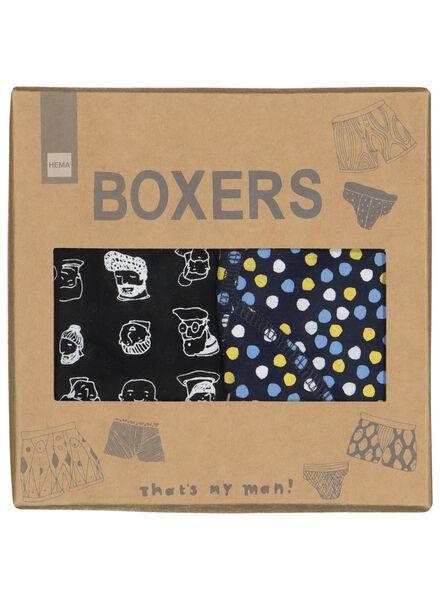 2-pak herenboxers - maat L - 60500511 - HEMA
