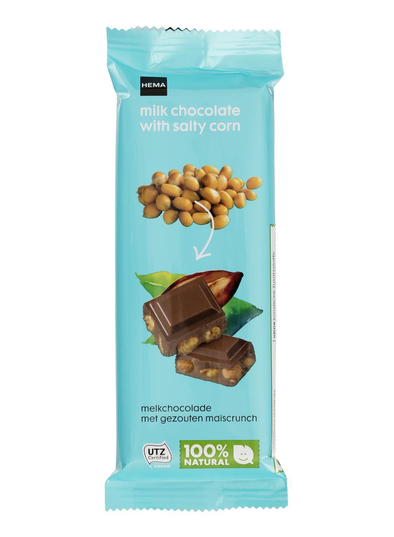 HEMA Melkchocolade Met Gezouten Maïscrunch