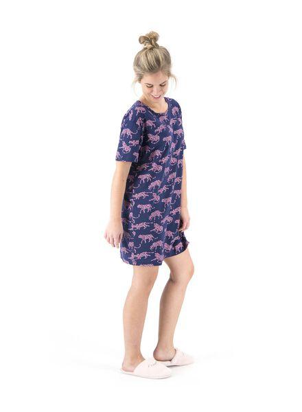 dames nachthemd donkerblauw donkerblauw - 1000015515 - HEMA