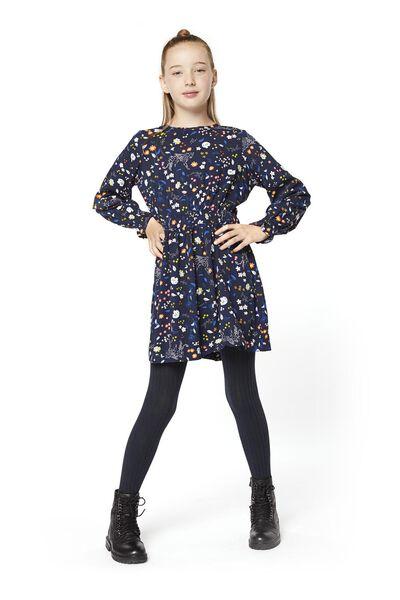 kinderjurk donkerblauw donkerblauw - 1000020222 - HEMA
