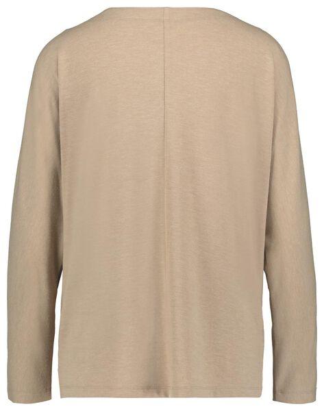 dames t-shirt boothals roze XL - 36269084 - HEMA