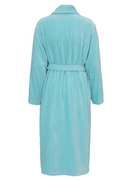 damesbadjas met sjaalkraag lichtgrijs lichtgrijs - 1000002868 - HEMA