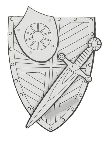 knutselpakket ridder - 15920404 - HEMA