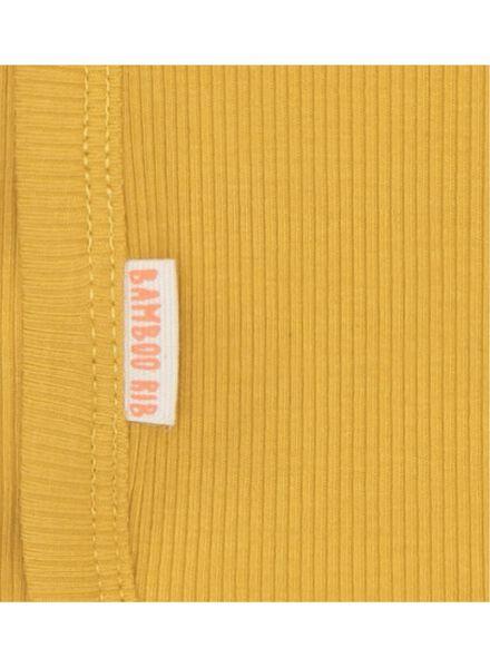 newborn-prematuur overslagromper bamboe stretch geel geel - 1000013401 - HEMA