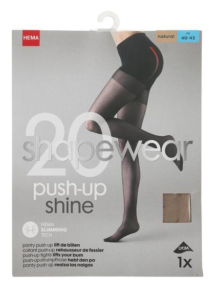 panty push-up 20denier naturel 44/46 - 4042328 - HEMA